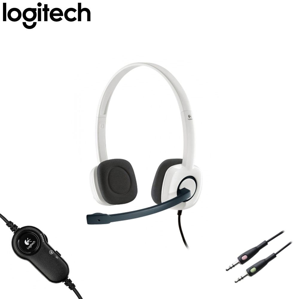 HEADSET LOGITECH PC H150 WHITE
