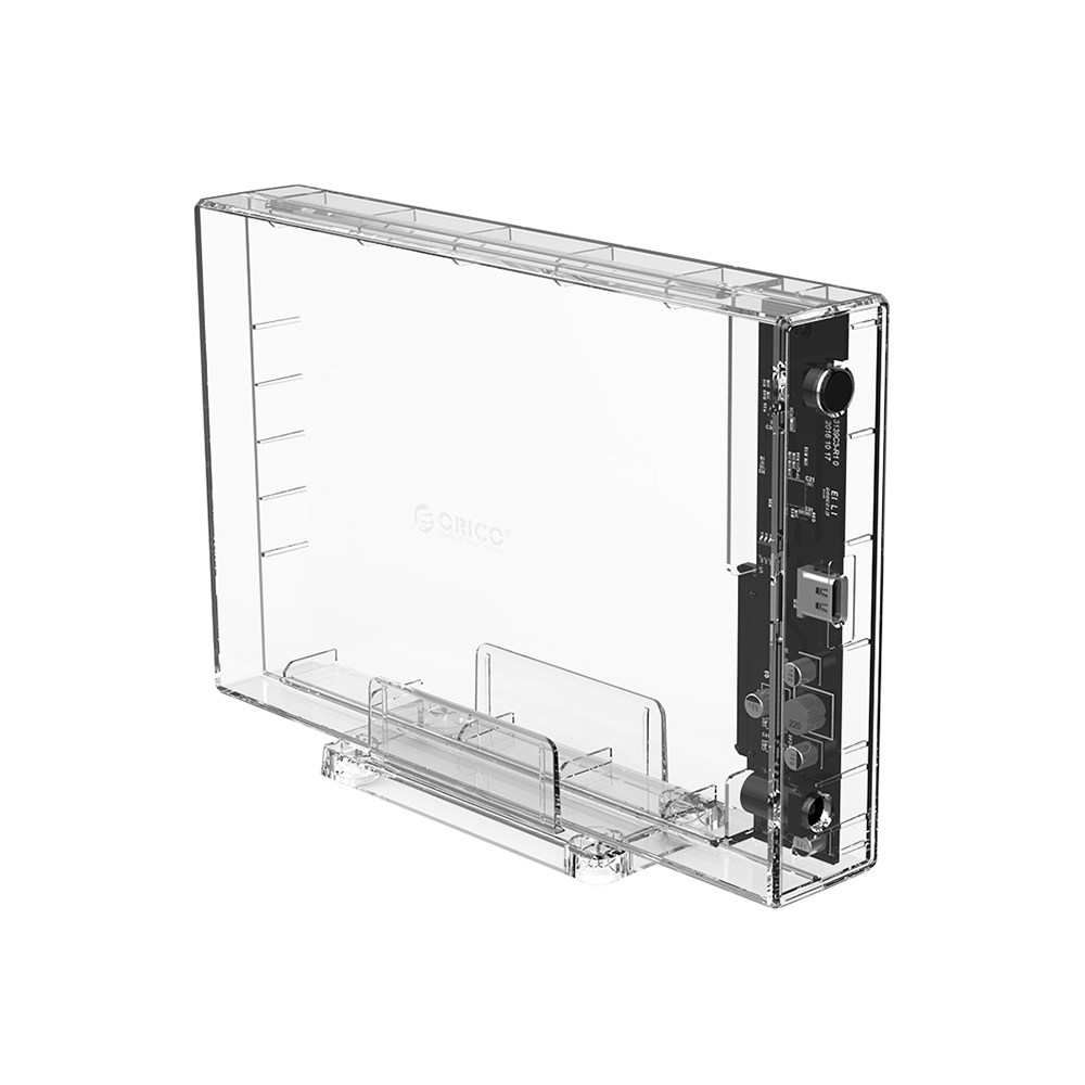 "HARD DRIVE ENCLOSURE 3.5"" SATA USB 3.1 TRANSPARENT ORICO"